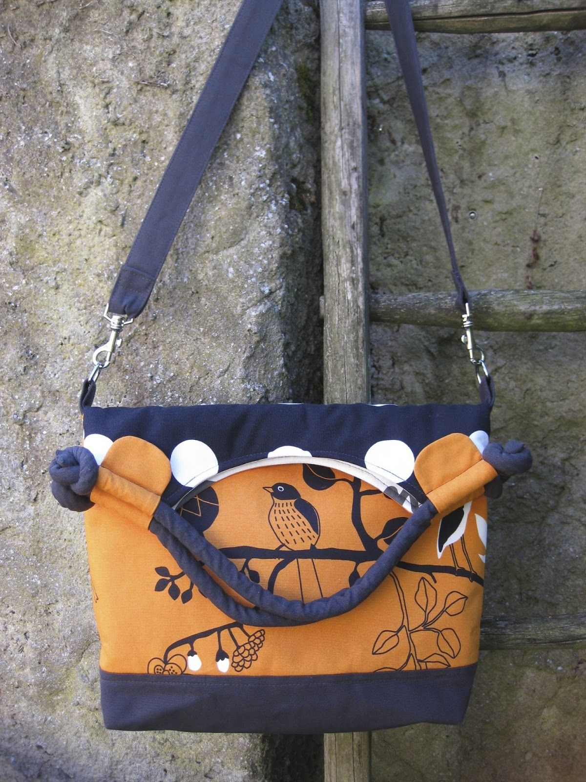 Sew Sweetness Lapin Noir Bag sewn by Liz of Moments