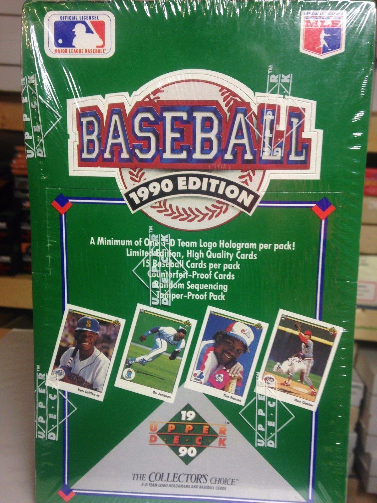 1990 upper deck baseball unopened box 36 sealed packs