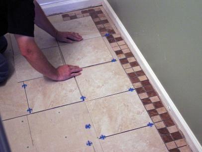 How To Install Tile On A Bathroom Floor Outhouse Bathroom