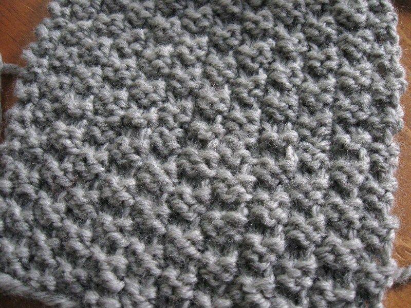 Point facile au tricot le point de damier 2 mailles le - Les points au tricot ...
