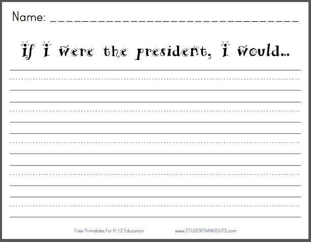 If I Were The President I Would Writing Prompt Picture Writing Prompts Writing Prompts Writing Prompts For Kids