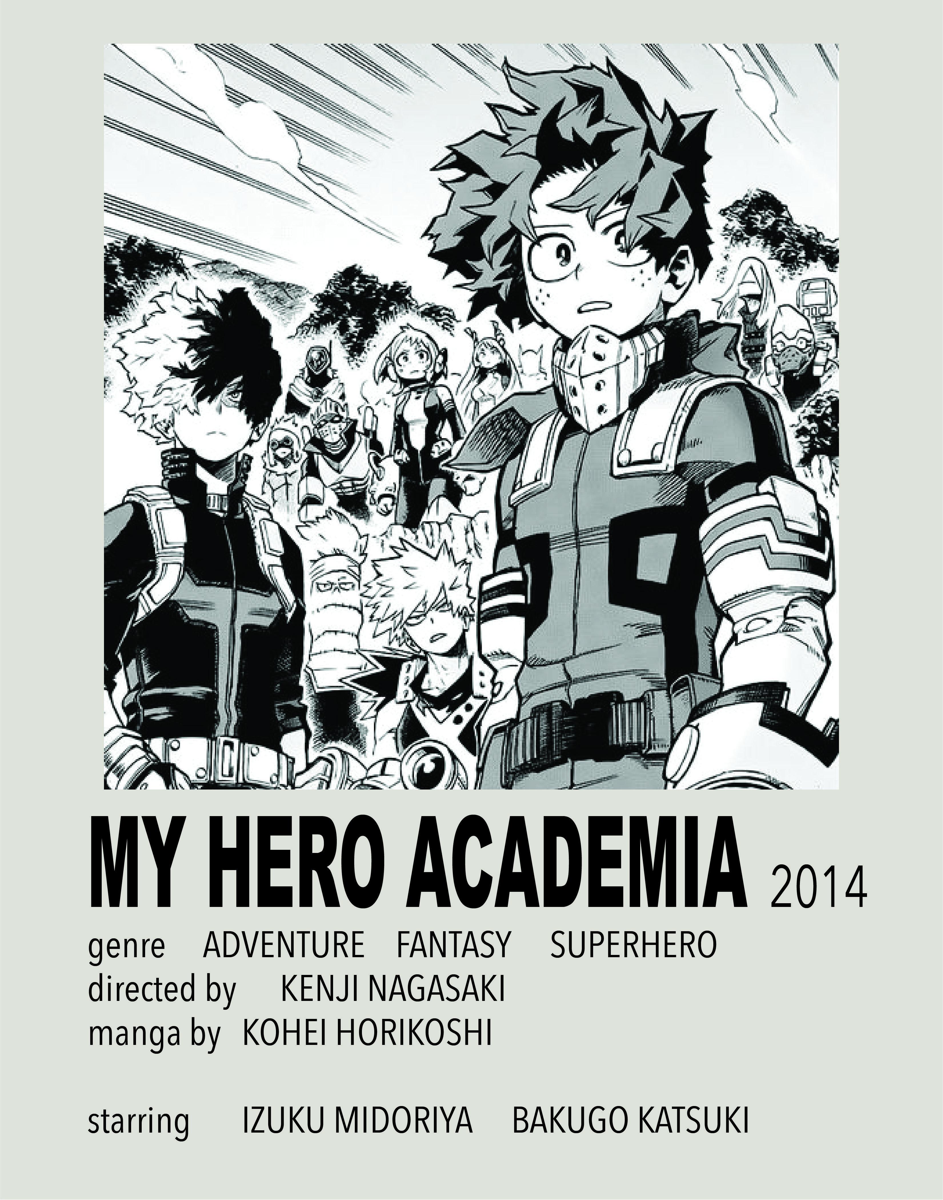 my hero academia polaroid poster by