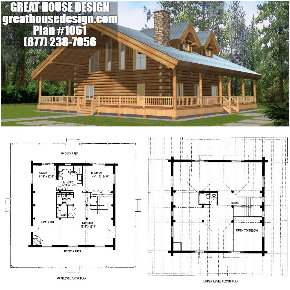 Home Plan 001 1061 Home Plan Great House Design House Plans Log Homes Wood Boat Plans
