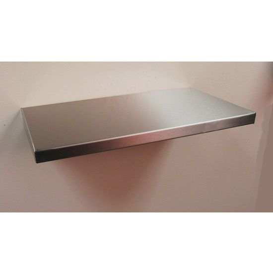 Stainless Floating Shelves Shelves  Single Design Wall Shelf  Formed Top Shelf With Tapered