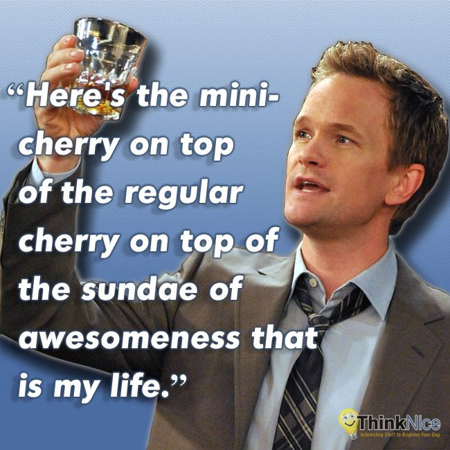 Hereu0027s the mini-cherry on top of the regular cherry on top of the - barney stinson resume