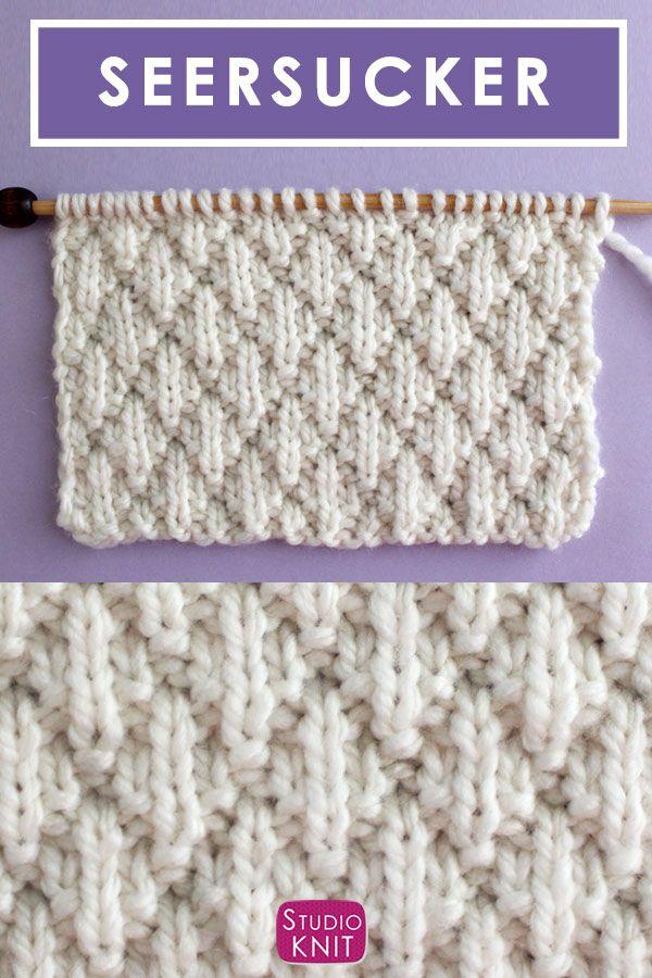 Photo of Seersucker Stitch Knitting Pattern | Studio Knit