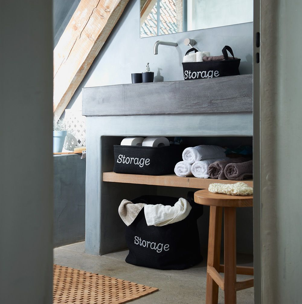 Stylingtip voor de badkamer: plaats enkele Home Label opbergenmanden ...