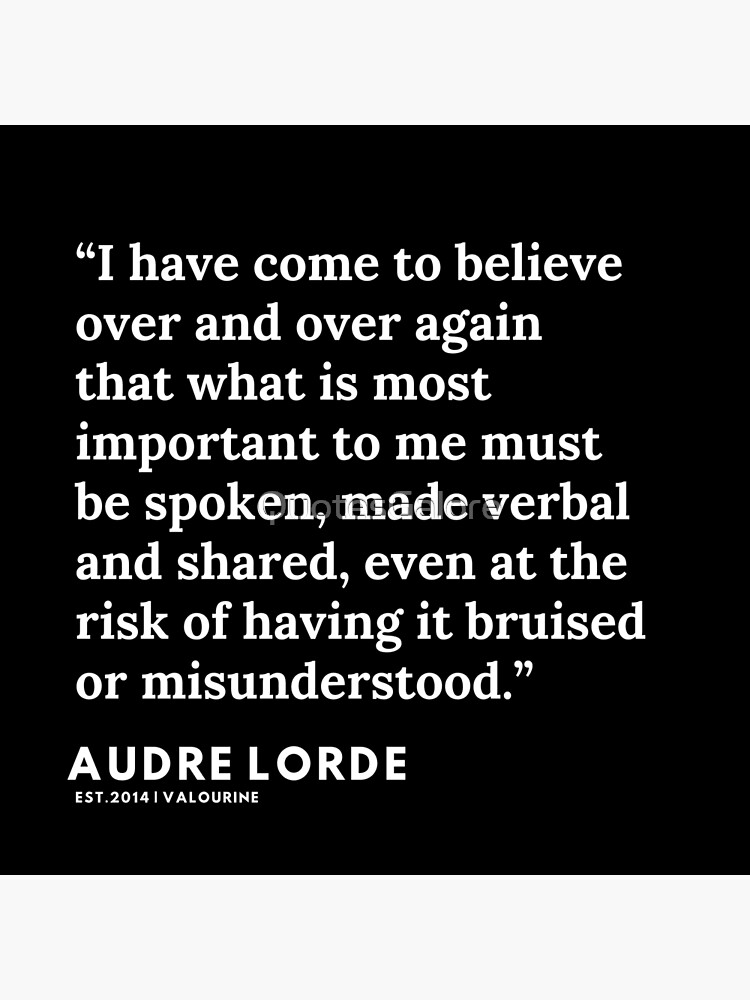 6  | 200302 | Audre Lorde Quotes Poster by QuotesGalore