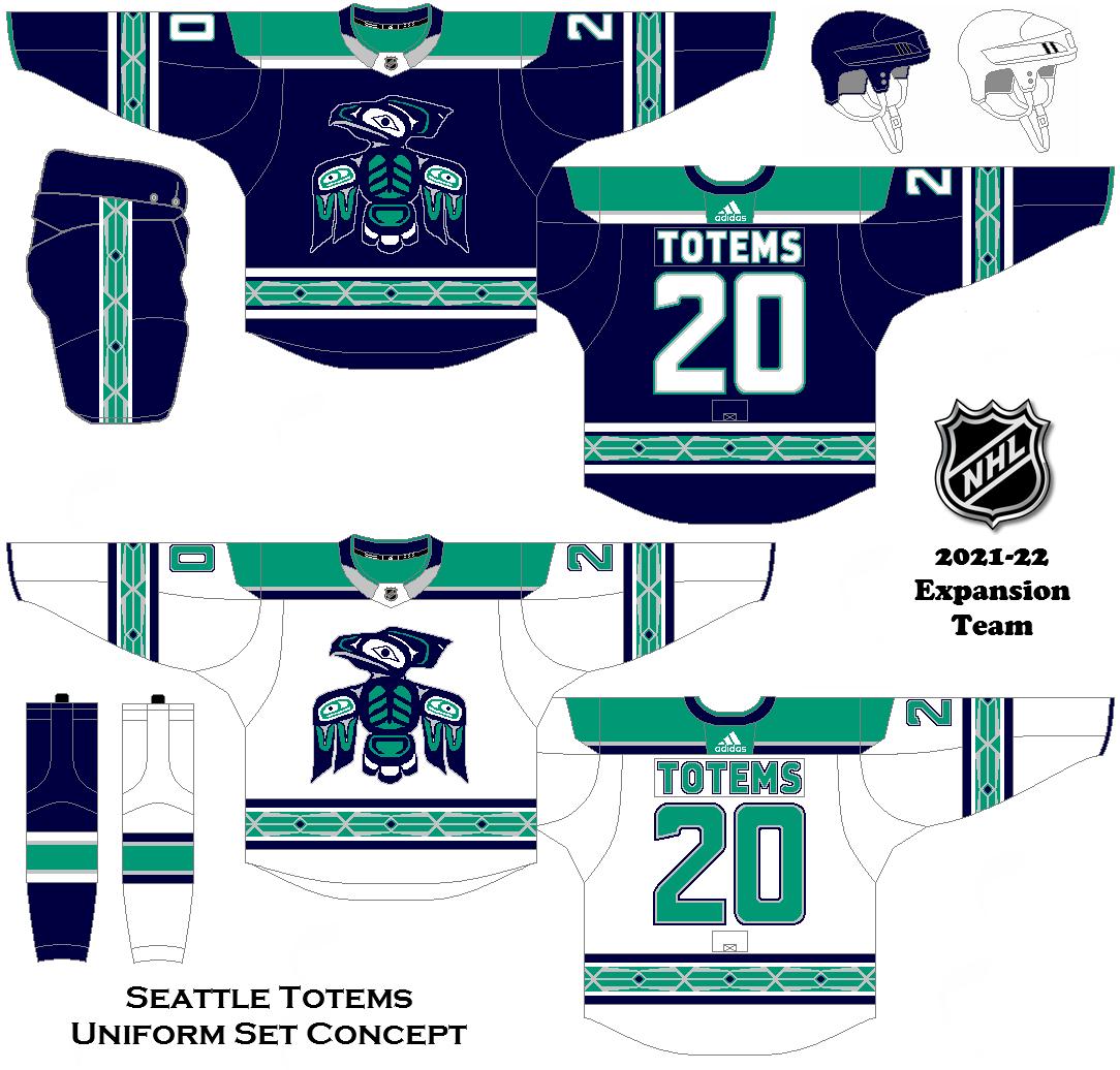 adf50495c39 2021-22 Expansion Team Concept - Seattle Totems Uniform Set ...