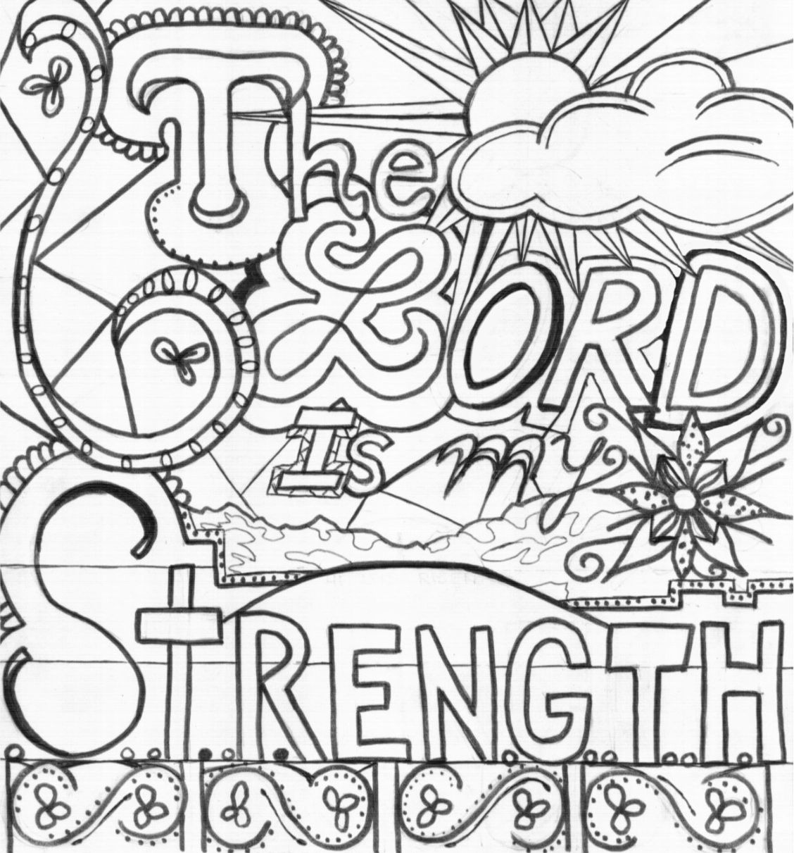 The Lord Is My Strength Bible Coloring Page Bible Journal