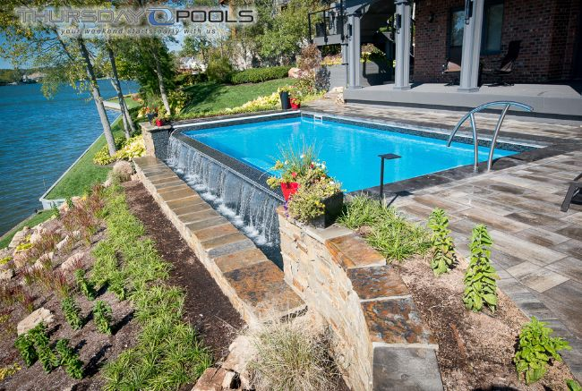 Lovely Infinity Pool Design   Thursday Pools   Fiberglass Pool Manufactures Of  In Ground Pool Designs