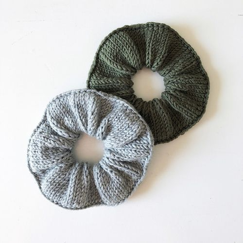 Knitted Scrunchies