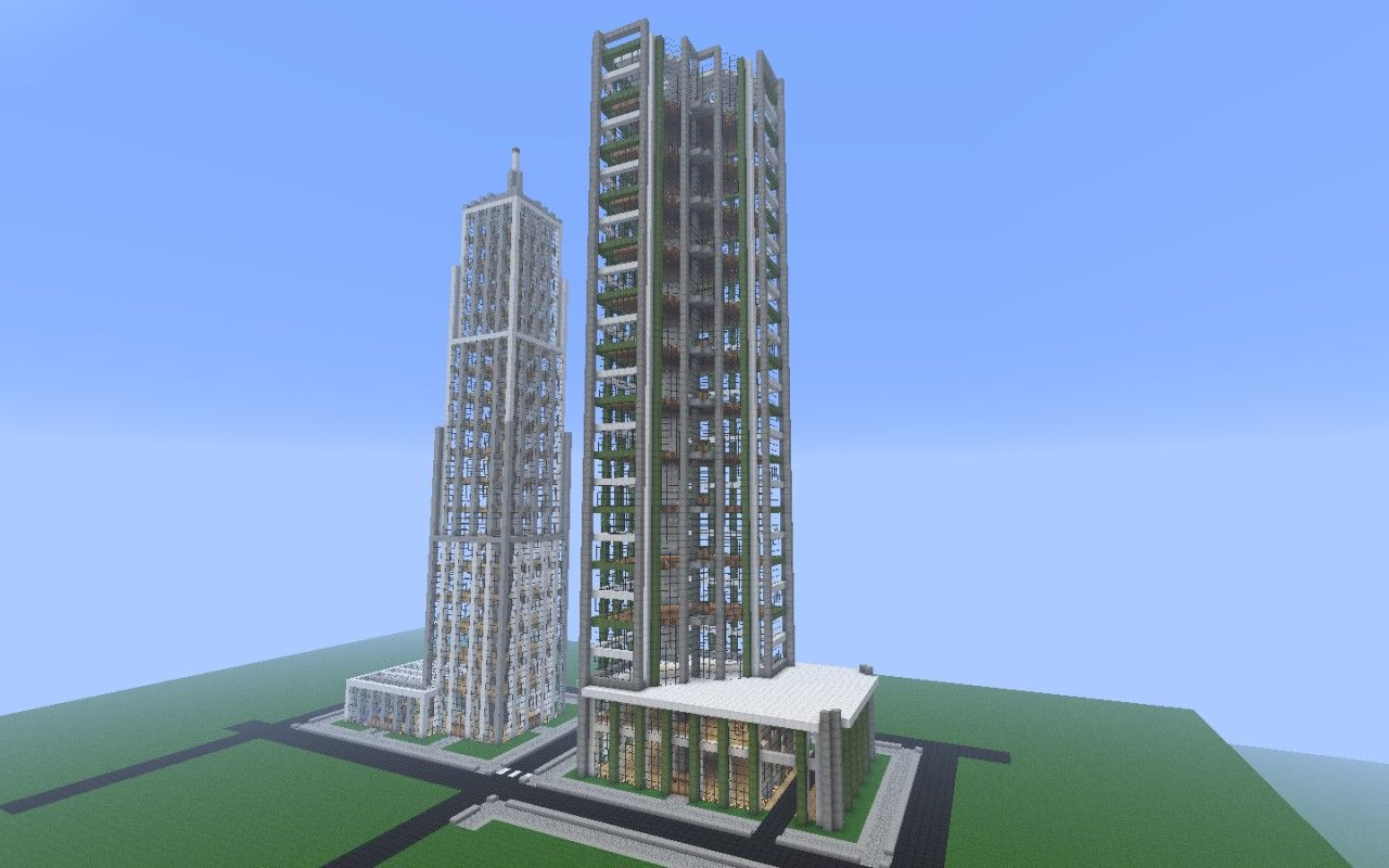 Minecraft city buildings 09 minecraft buildings for Modern building design minecraft