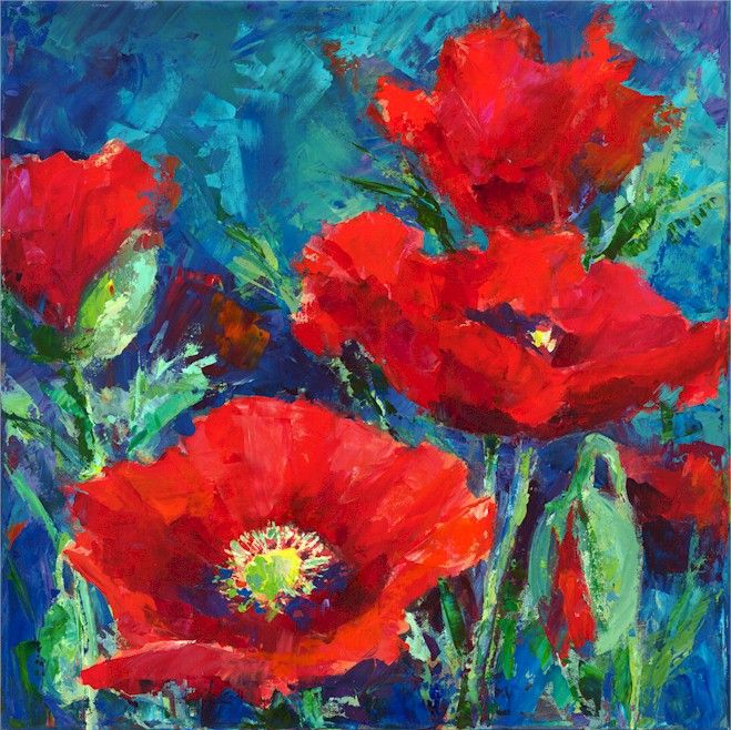 Jennifer bowman paintings buscar con google - How to paint poppy flowers ...