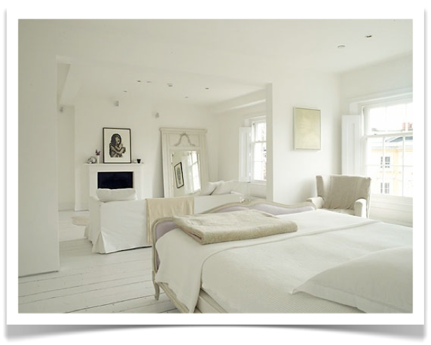 White White White Bedroom