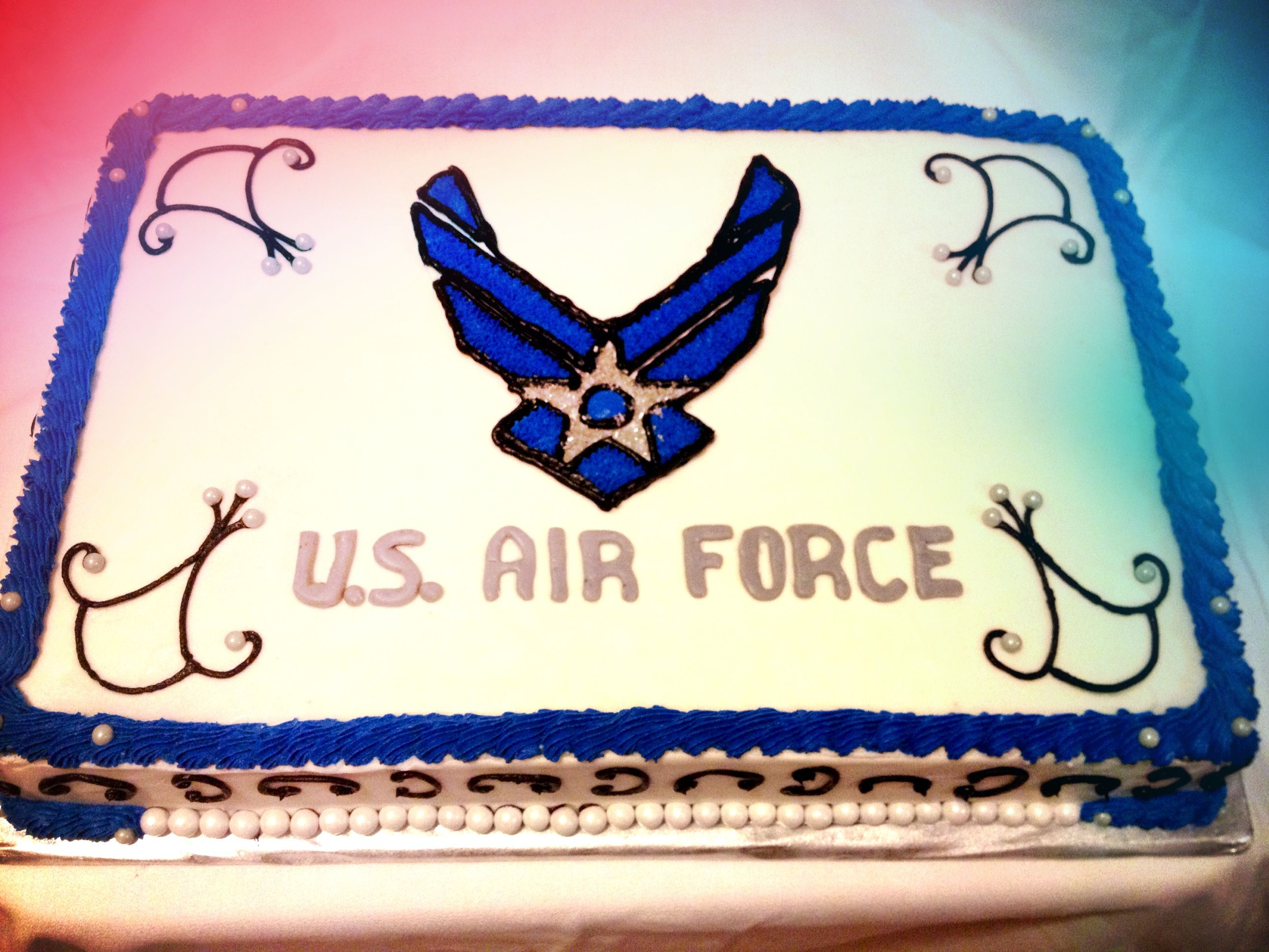 Air Force Cake With Images Graduation Cake Designs Air Force