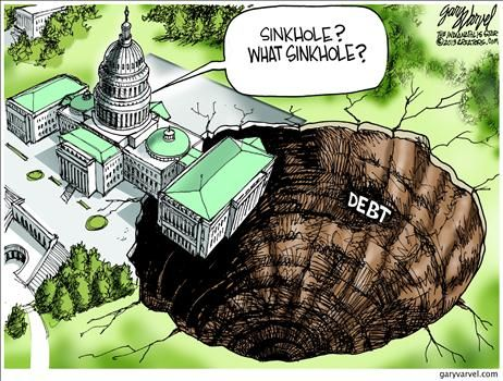 005 This political cartoon brings up the issue of debt going