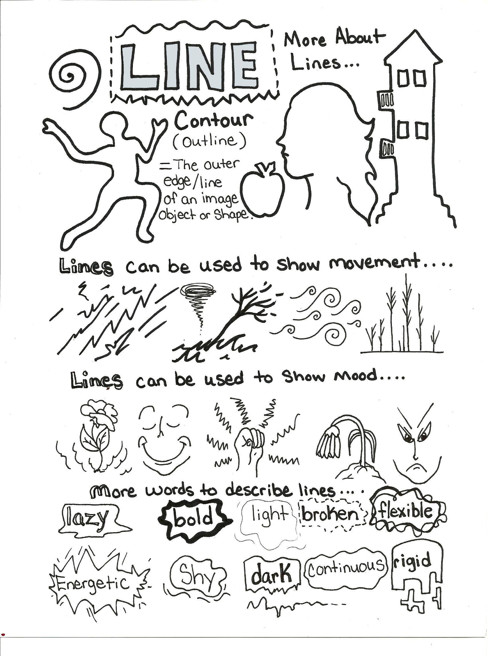 Line Art Element : Line art element handout bw pinterest