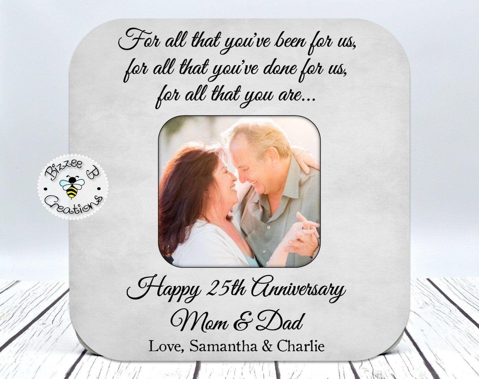 25th anniversary gift wedding anniversary gift mom dad