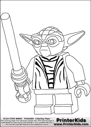 Lego Star Wars Yoda Battle Ready Coloring Page Preview Birthday Coloring Pages Lego Coloring Pages Happy Birthday Coloring Pages