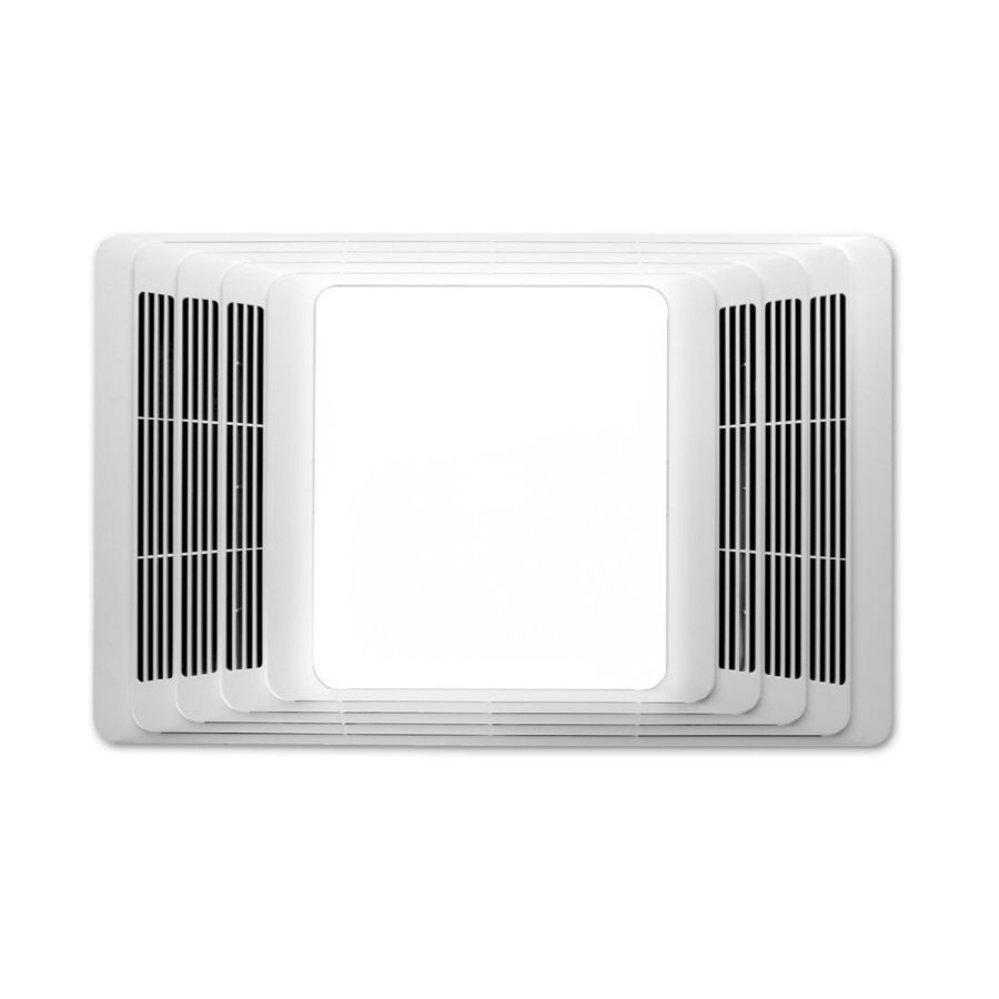 Broan 2.5-Sone 50-CFM White Bathroom Fan with Integrated ...