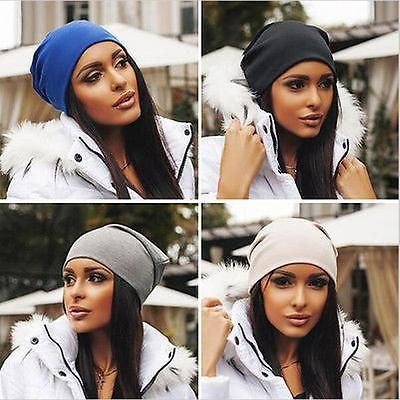 Women Winter Beanies Cotton Blended Beanie Slouch Warm Hat