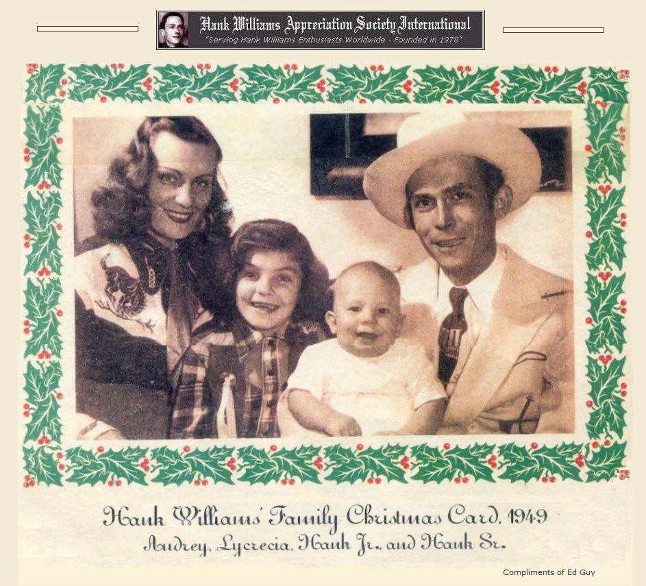 Hank's family Christmas card 1949 Hank, Hank williams sr