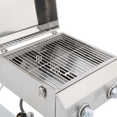 nexgrill 2burner portable propane gas table top grill in stainless steel - Stainless Steel Table Top