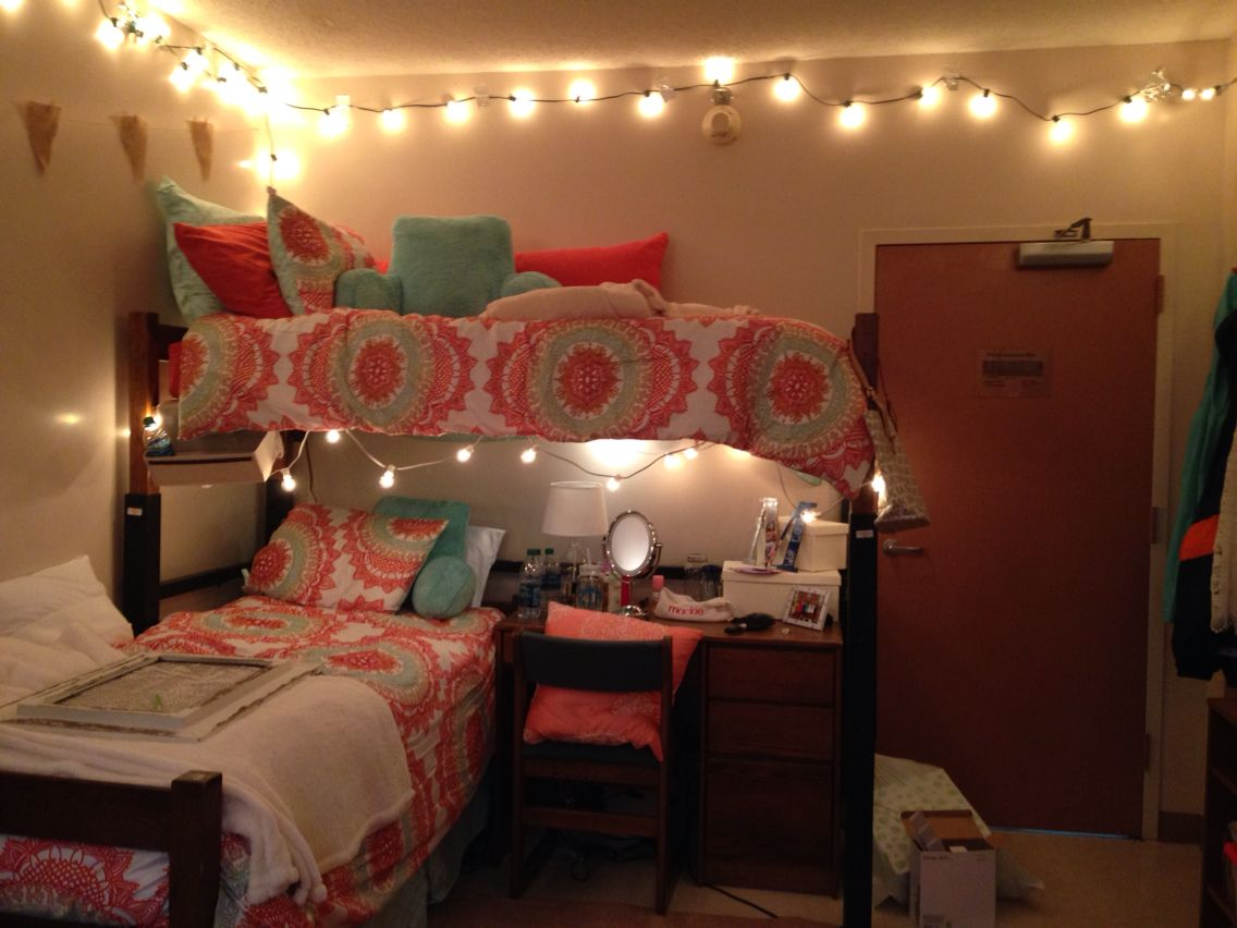 Lofting your bed can provide amazing space in your new home check out for - Dorm room layout ideas ...