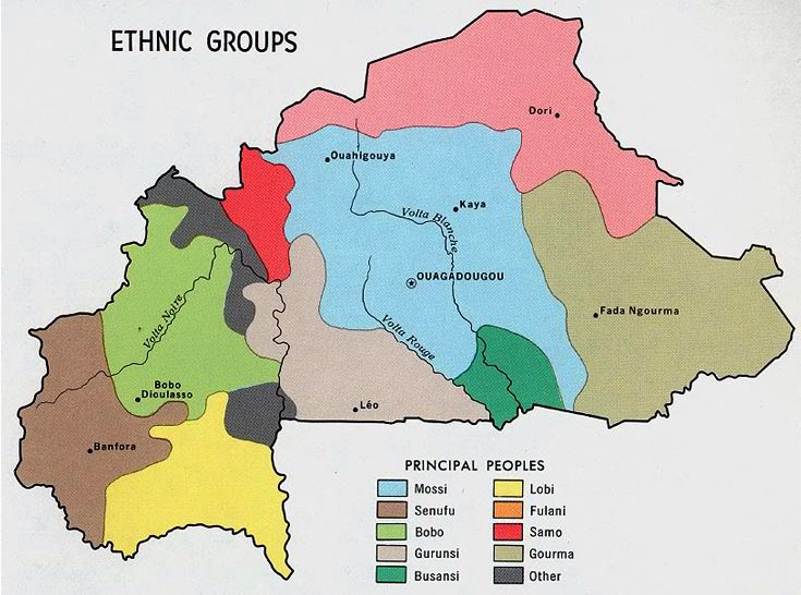 1968) Ethnic Groups of Burkina Faso | Ethnic, Genetic, Linguistic
