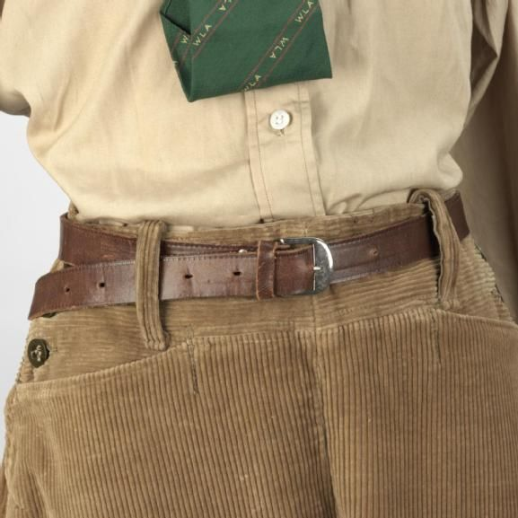 women's land army outfit, corduroy trousers