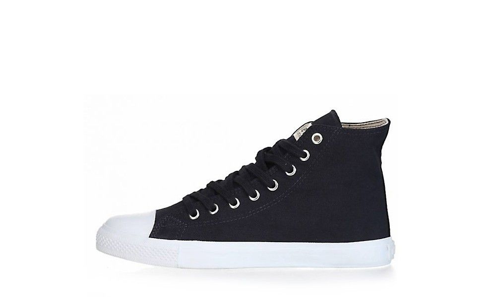 Vegan Sneaker   ETHLETIC Fair Trainer Hi Cut Dark Navy
