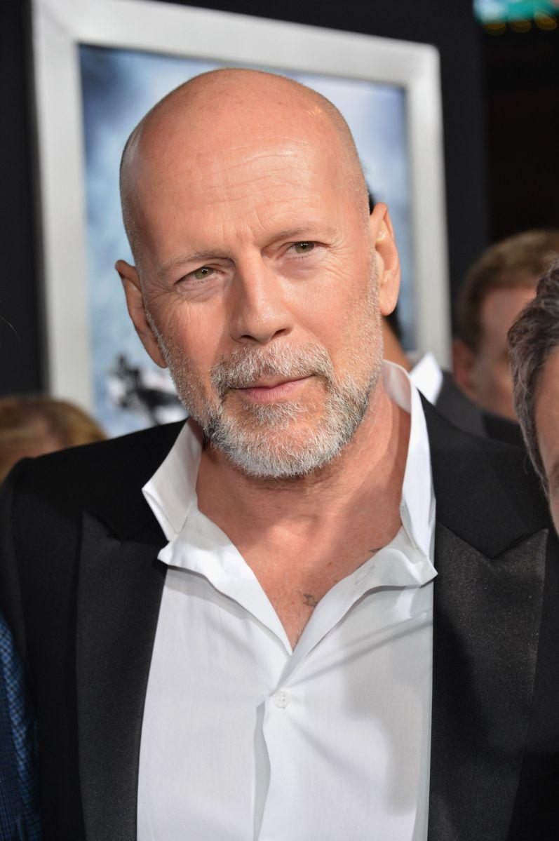Bruce Willis   Glatze und bart, Glatze, Glatzköpfige männer