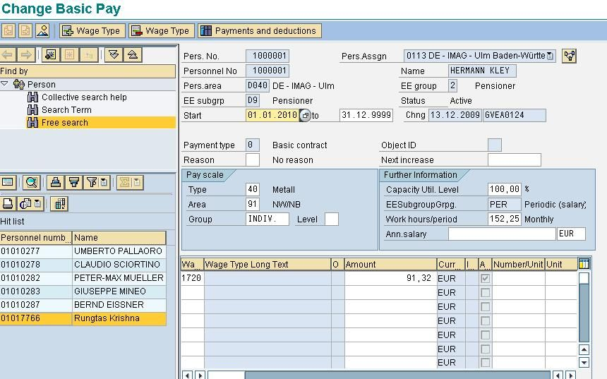 Types of WageTypes in SAP sap hr payroll SAP HR\/HCM Training - sap fico consultant sample resume