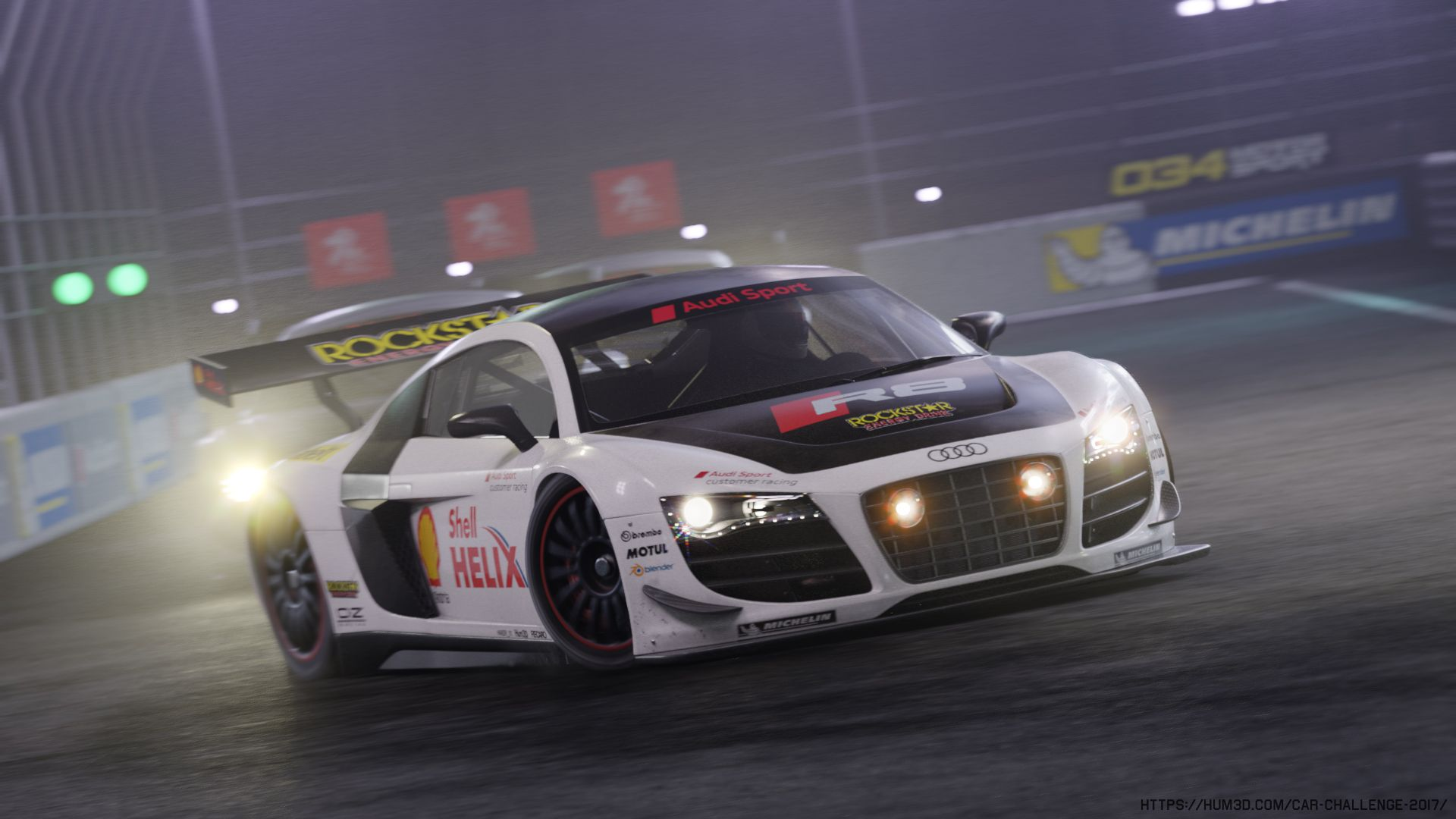 Audi R8 LMS Night Race   Car Render Challenge 2017