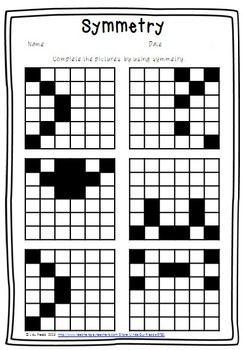 Symmetry Free Worksheet Symmetry Worksheets Math Geometry Elementary Math