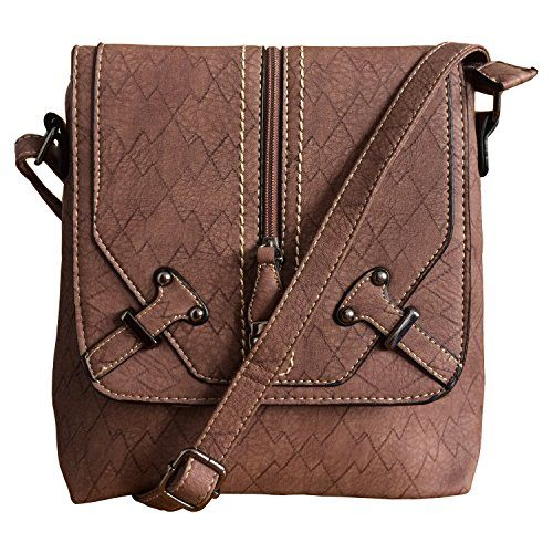 6d4dfc8802 FanCarry Medium Crossbody Messenger Bag FanCarry Flap Top Front Zipper Shoulder  Purse Satchel