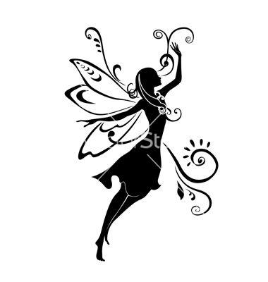 fairy silhouette vector on vectorstock quilling ideas pinterest rh pinterest com ferry victoria to vancouver ferry victoria to vancouver