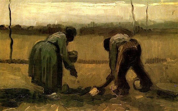 Van Gogh: Potato Pickers | Van gogh paintings, Vincent van gogh ...