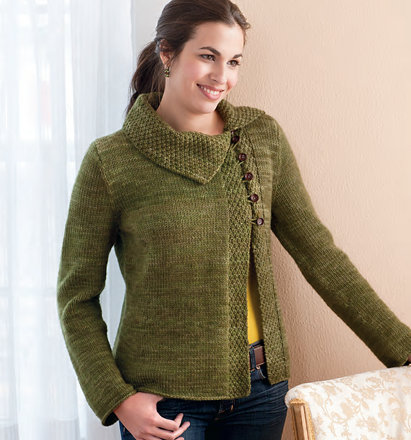 "Wish I was talented enough to make this Lovely Jacket... Published in ""Textured Stitches"" by Connie Chang Chinchio (Ravelry)"