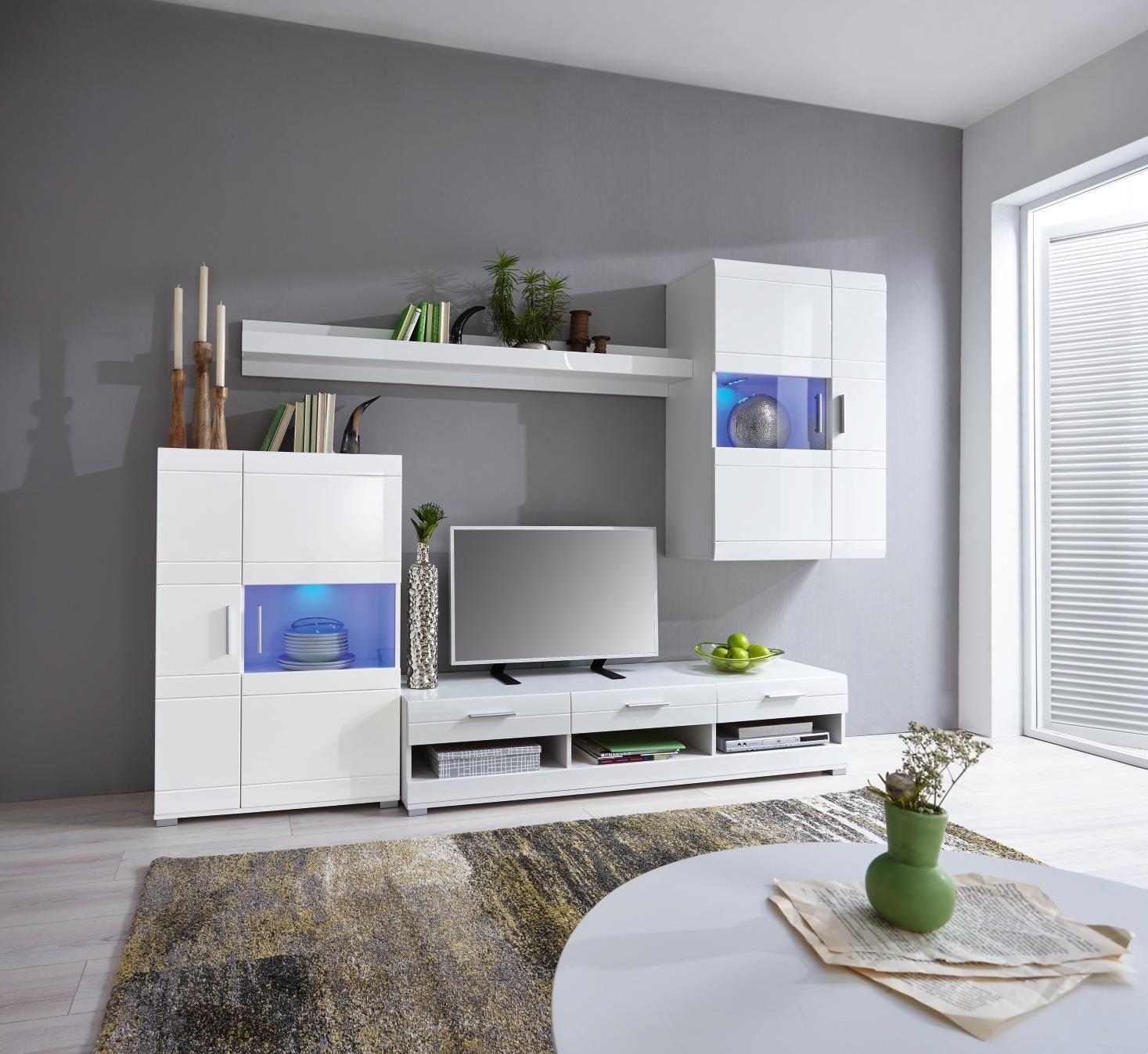Wohnwand In Weiss Moderne Eleganz Fur Ihr Zuhause Gostinaya