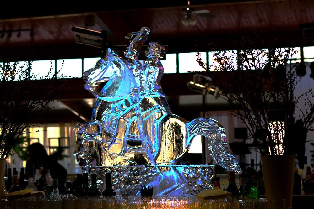 A Horse Of Course - Ice Sculpture - Hollywood Maryland