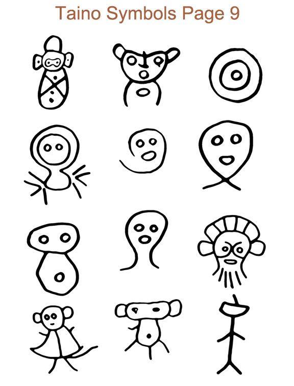 Ancient Taino Symbols Arqueo Ilogica Pinterest Taino Symbols