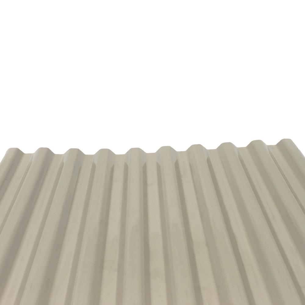 Deckdrain 10 Ft Pvc Roof Panel In Opaque Tan 10 Pack 1308t The Home Depot Pvc Roofing Corrugated Plastic Roofing Roof Panels