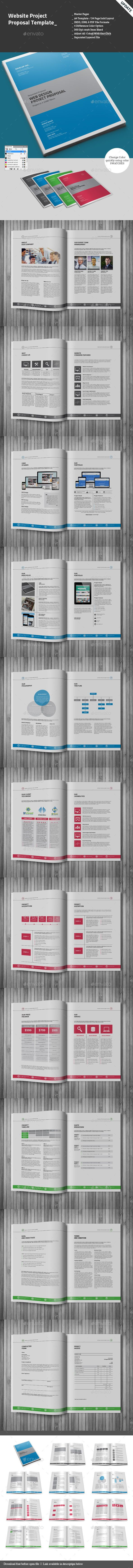 Website Project Proposal Template  Proposal Templates Project