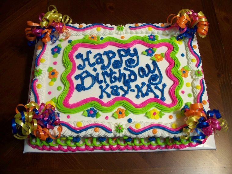 35 best Sheet cakes images on Pinterest Birthday sheet cakes