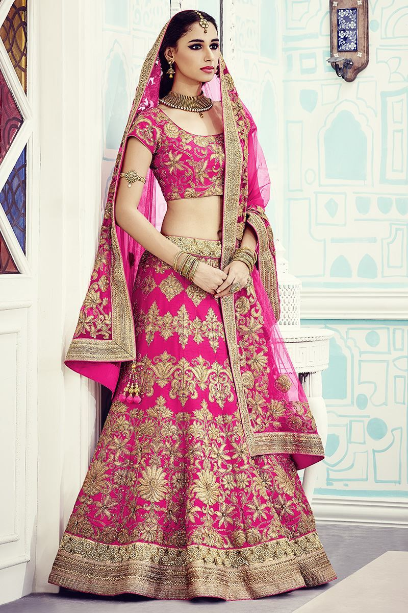 Show details for Gracefully designed hot pink lehenga | wedding ...