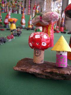 paddenstoelen en kabouters van kurk
