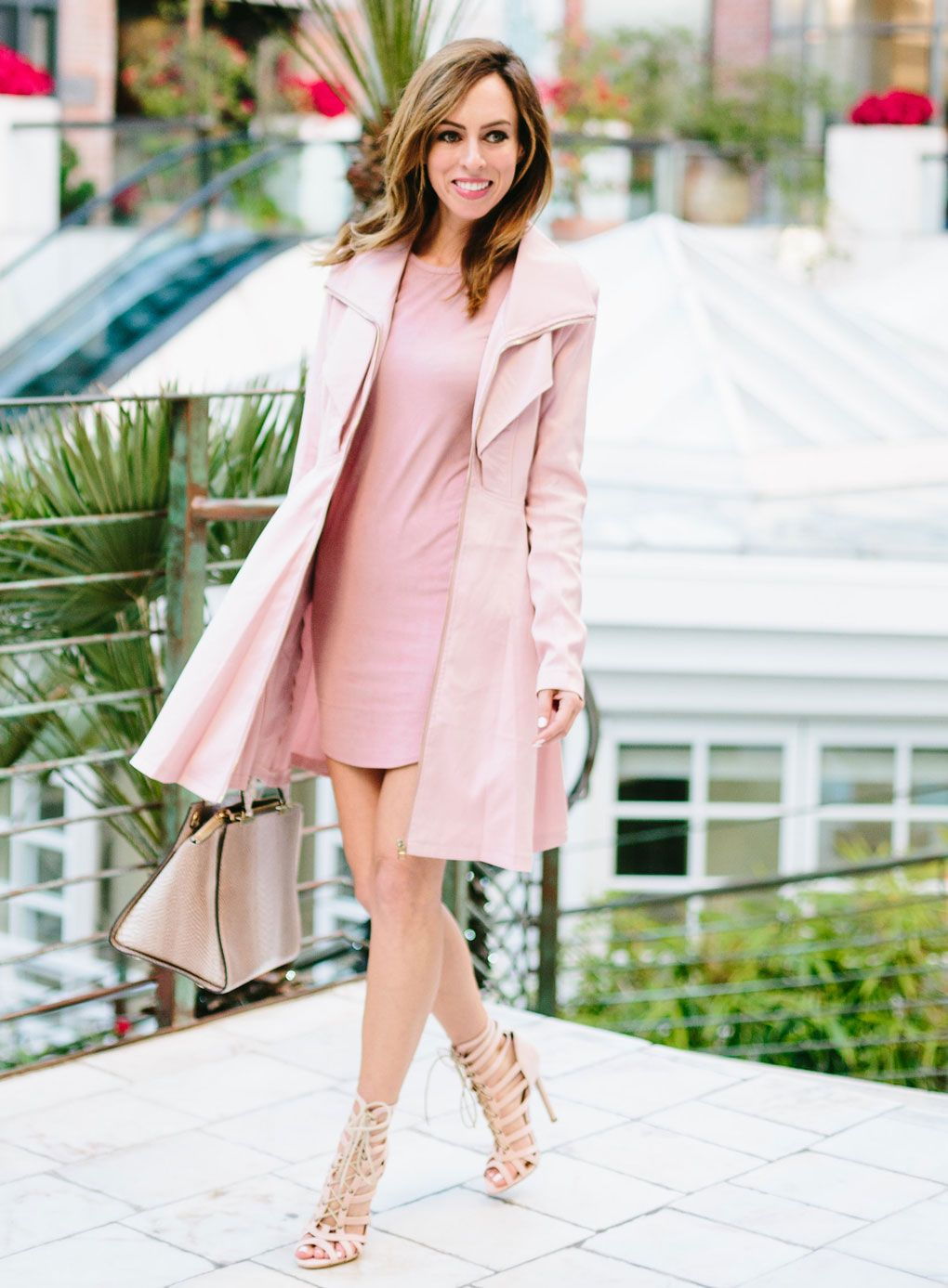 Chic 16 Windsor 200 Gift Card Giveaway Light Pink Jacket Pink Pleated Skirt Fashion [ 1387 x 1020 Pixel ]