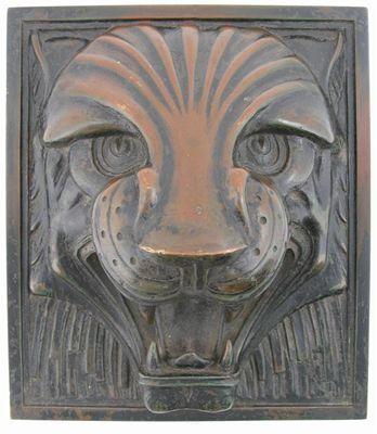 tiger head art deco style